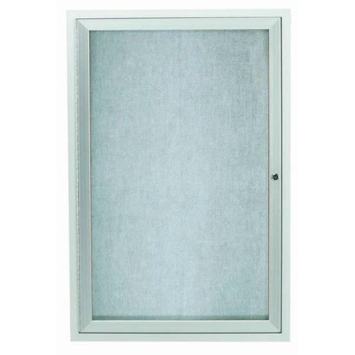 Aarco ODCC2418R 1 Door Outdoor Enclosed Bulletin Board with Aluminum Frame 24