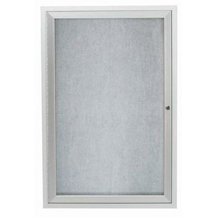 Aarco ODCC3624R 1 Door Outdoor Enclosed Bulletin Board with Aluminum Frame 36