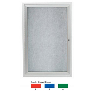 Aarco ODCC3624RB 1 Door Outdoor Enclosed Bulletin Board with Powder Coated Aluminum Frame 36