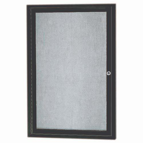Aarco ODCC3624RBA 1 Door Outdoor Enclosed Bulletin Board with Bronze Anodized Aluminum Frame 36