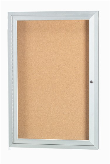 Aarco ODCC3630R 1 Door Outdoor Enclosed Bulletin Board with Aluminum Frame 36