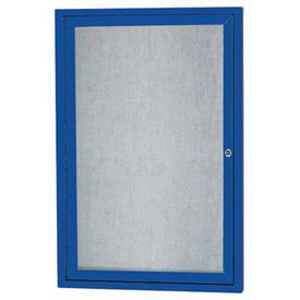 Aarco ODCC3630RB 1 Door Outdoor Enclosed Bulletin Board with Powder Coated Aluminum Frame 36