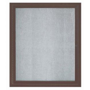 Aarco ODCC3630RBA 1 Door Outdoor Enclosed Bulletin Board with Bronze Anodized Aluminum Frame 36