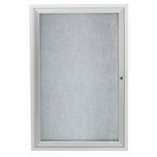 Aarco ODCC4836R 1 Door Outdoor Enclosed Bulletin Board with Aluminum Frame 48