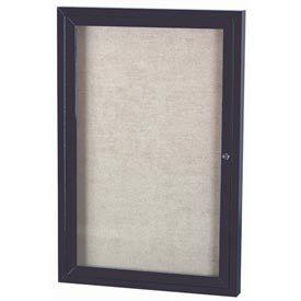 Aarco ODCC4836RBA 1 Door Outdoor Enclosed Bulletin Board with Bronze Anodized Aluminum Frame 48