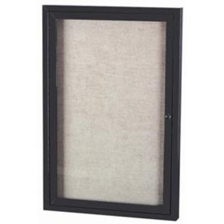 Aarco ODCC4836RBK 1 Door Outdoor Enclosed Bulletin Board with Black Powder Coated Aluminum Frame 48
