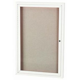 Aarco ODCC4836RW 1 Door Outdoor Enclosed Bulletin Board with Powder Coated Aluminum Frame 48