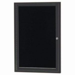 Aarco ADC2418IBA Indoor Illuminated Enclosed Directory Board with Bronze Anodized Aluminum Frame and Header  24