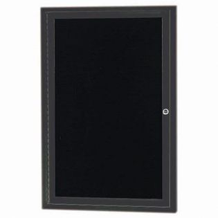 Aarco ADC3624IBA Indoor Illuminated Enclosed Directory Board with Bronze Anodized Aluminum Frame    36