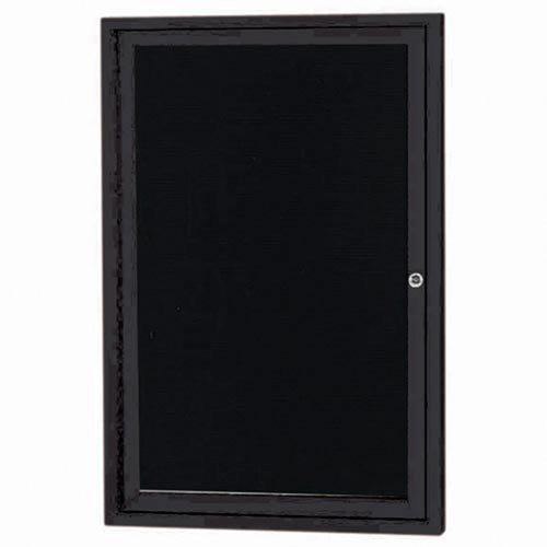 Aarco ADC3624IBK Indoor Illuminated Enclosed Directory Board with Black Anodized Aluminum Frame    36