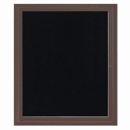 Aarco ADC3630IBA Indoor Illuminated Enclosed Directory Board with Bronze Anodized Aluminum Frame 36