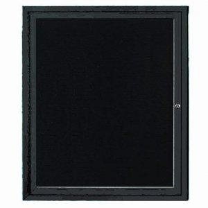 Aarco ADC3630IBK Indoor Illuminated Enclosed Directory Board with Black Anodized Aluminum Frame 36