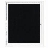 Aarco ADC3630IW Indoor Illuminated Enclosed Directory Board with White Anodized Aluminum Frame 36