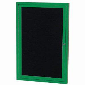 Aarco ADC4836IG Indoor Illuminated Enclosed Directory Board with Green Anodized Aluminum Frame and Header  48