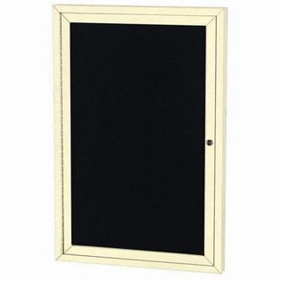Aarco ADC4836IIV Indoor Illuminated Enclosed Directory Board with Ivory Anodized Aluminum Frame and Header  48