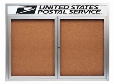 "Aarco DCC3624RHI 1 Door Indoor Illuminated Enclosed Bulletin Board with Aluminum Frame and Header 36"" x 24"""