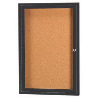 Aarco DCC2418RBA 1 Door Enclosed Bulletin Board with Bronze Anodized Aluminum Frame 24