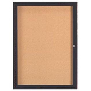 Aarco  DCC4836RBA 1 Door Enclosed Bulletin Board with Bronze Anodized  Aluminum Frame  48