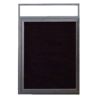 Aarco ADC2418H Indoor Enclosed Directory Board with Aluminum Frame and Header 24