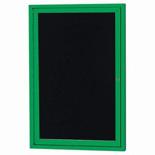 Aarco ADC3624G Indoor Enclosed Directory Board with Green Anodized Aluminum Frame 36