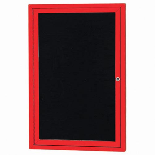 Aarco ADC3624R Indoor Enclosed Directory Board with Red Anodized Aluminum Frame36