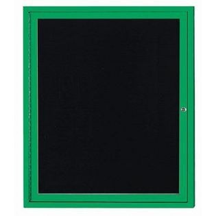 Aarco ADC3630G Indoor Enclosed Directory Board with Green Anodized Aluminum Frame36