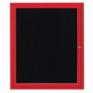 Aarco ADC3630R Indoor Enclosed Directory Board with Red Anodized Aluminum Frame36