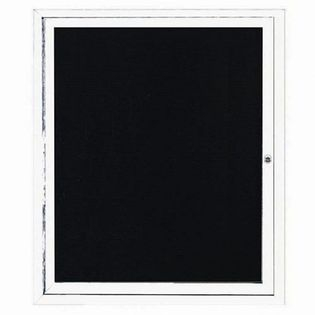 Aarco ADC3630W Indoor Enclosed Directory Board with White Anodized Aluminum Frame 36