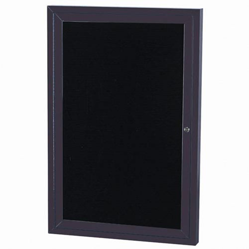 Aarco ADC4836BA Indoor Enclosed Directory Board with Bronze Anodized Aluminum Frame 48