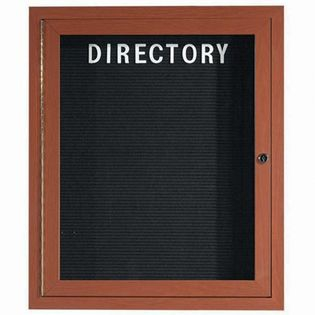 Aarco ADCO3630R Indoor Enclosed Directory Board with Aluminum Wood-Look Oak Finish 36