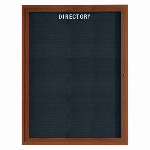 Aarco ADCO4836R Indoor Enclosed Directory Board with Aluminum Wood Look Oak Finish 48