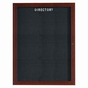 Aarco ADCWW4836R Indoor Enclosed Directory Board with Aluminum Wood-Look Walnut Finish  48