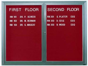 Aarco OADC2418 1 Door Outdoor Enclosed Directory Board with Aluminum Frame 24