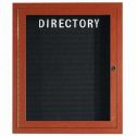 "Aarco OADCW3630R 1 Door Outdoor Enclosed Directory Board with Aluminum Wood-Look Cherry Finish  36"" x 30"""