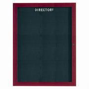 "Aarco OADCW4836R 1 Door Outdoor Enclosed Directory Board with Aluminum Wood-Look Cherry Finish  48"" x 36"""