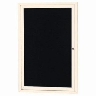 "Aarco OADC2418IV 1 Door Outdoor Enclosed Directory Board with Ivory Anodized Aluminum Frame 24"" x 18"""