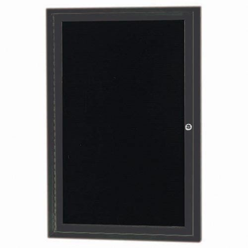 """Aarco OADC3624IBA 1 Door Outdoor Illuminated Enclosed Directory Board with Bronze Anodized Aluminum Frame 36"""" x 24"""""""