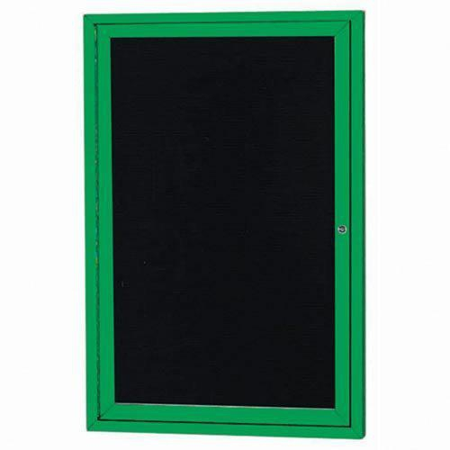 """Aarco OADC3624IG 1 Door Outdoor Illuminated Enclosed Directory Board with Green Anodized Aluminum Frame 36"""" x 24"""""""