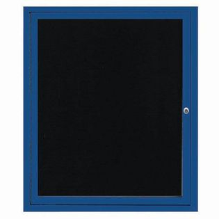 "Aarco OADC3630IBA 1 Door Outdoor Illuminated Enclosed Directory Board with Bronze Anodized Aluminum Frame 36"" x 30"""