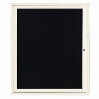 """Aarco OADC3630IV 1 Door Outdoor Enclosed Directory Board with Ivory Anodized Aluminum Frame 36"""" x 30"""""""
