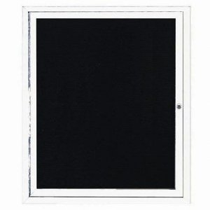 "Aarco OADC3630IW 1 Door Outdoor Illuminated Enclosed Directory Board with White Anodized Aluminum Frame 36"" x 30"""