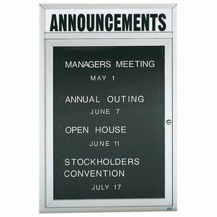 """Aarco OADC4836HIW 1 Door Outdoor Illuminated Directory Board with White Anodized Aluminum Frame and Header 48"""" x 36"""""""