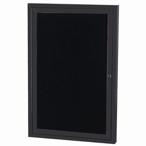 "Aarco OADC4836IBK 1 Door Outdoor Illuminated Directory Board with Black Anodized Aluminum Frame 48"" x 36"""