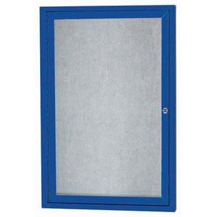 "Aarco ODCC2418RIBA1 Door Outdoor Illuminated Enclosed Bulletin Board with Bronze Anodized Aluminum Frame 24"" x 18"""