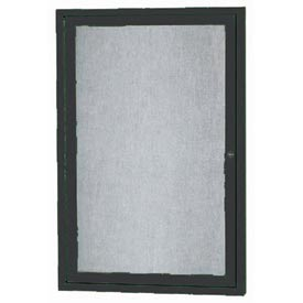 "Aarco ODCC2418RIBK 1 Door Outdoor Illuminated Enclosed Bulletin Board with Black Powder Coated Aluminum Frame 24"" x 18"""