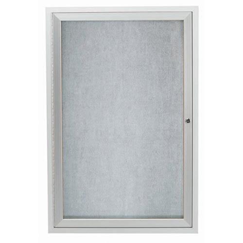 "Aarco ODCC3624RI 1 Door Outdoor Illuminated Enclosed Bulletin Board with Aluminum Frame 36"" x 24"""