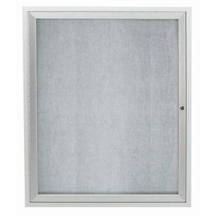 "Aarco ODCC3630RI 1 Door Outdoor Illuminated Enclosed Bulletin Board with Aluminum Frame 36"" x 30"""