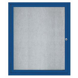 "Aarco ODCC3630RIB 1 Door Outdoor Illuminated Enclosed Bulletin Board with Aluminum Frame 36"" x 30"""