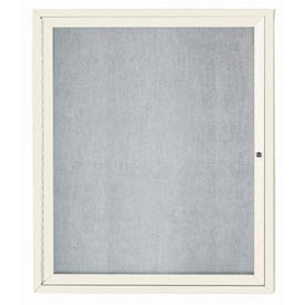 "Aarco ODCC3630RIIV 1 Door Outdoor Illuminated Enclosed Bulletin Board with Aluminum Frame 36"" x 30"""