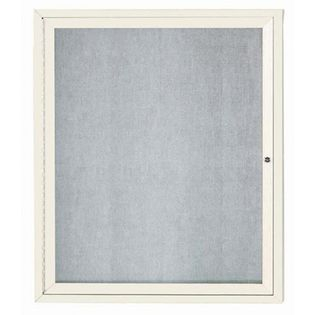 """Aarco ODCC3630RIV 1 Door Outdoor Illuminated Enclosed Bulletin Board with Aluminum Frame 36"""" x 30"""""""